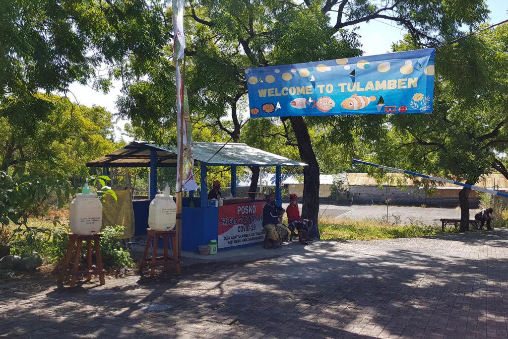 Въезд на дайв-сайт Либерти в Туламбене