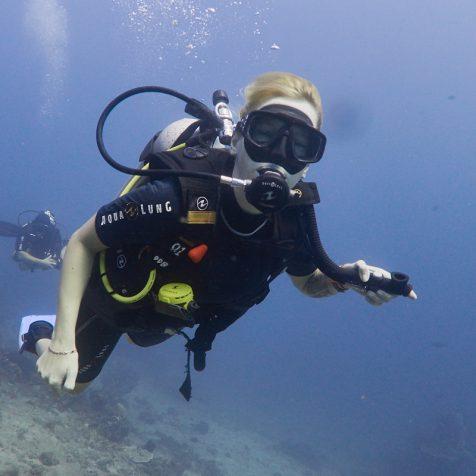 Пробное погружение в Амеде, Бали