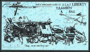 Схема затонувшего корабля Либерти на Бали