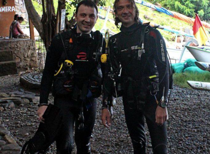 Дайверы на Бали
