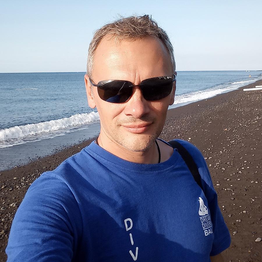 Олег Кравцов, инструктор на Бали