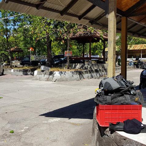 Парковка на дайв-сайте Либерти